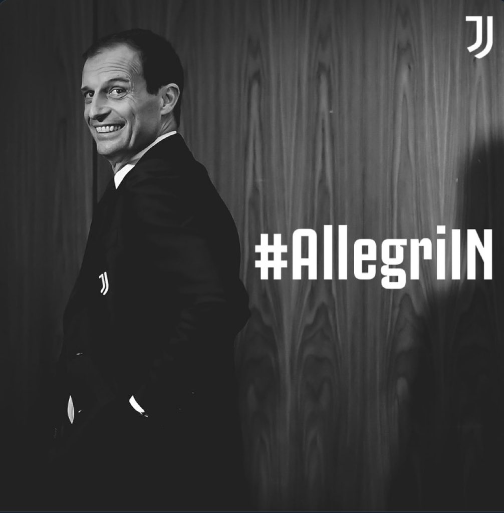 📝Massimiliano Allegri has been announced as the new manager of Juventus