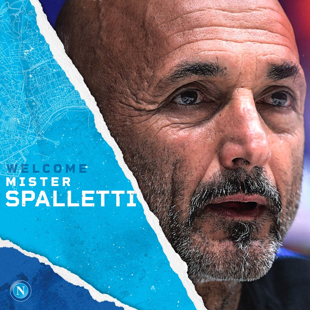 📝Napoli have appointed Luciano Spalletti as the new head coach on a contract until June 2023